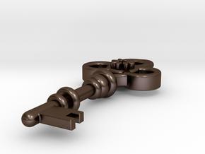 Key pendant in Polished Bronze Steel