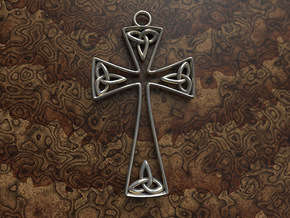 Trinity Celtic Cross in Stainless Steel