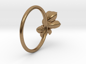 Succulent Stacking Ring No. 2 in Natural Brass: 7 / 54