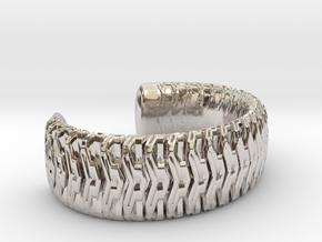 Combine Cuff Medium in Rhodium Plated Brass