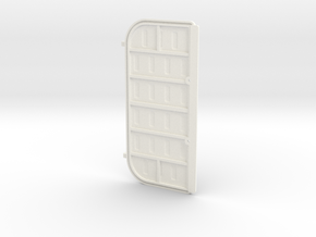 Double Door 1 Left in White Processed Versatile Plastic