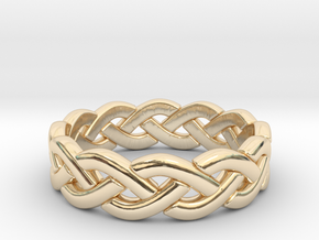 Zig Zag Triple Ring in 14k Gold Plated Brass