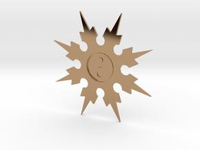 Shuriken 8 Points Throwing Star in Polished Brass