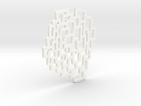 Cells Pendant in White Processed Versatile Plastic