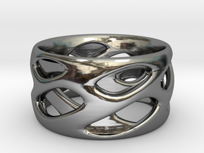 Ring Eye in Fine Detail Polished Silver