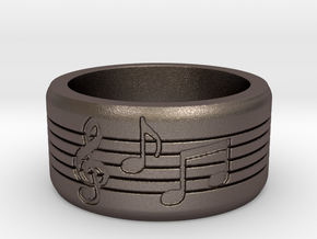 Music Ring in Stainless Steel