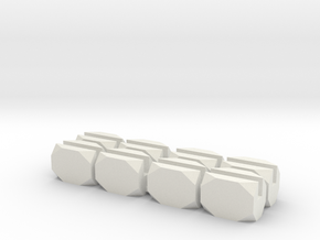No Bar Block in White Natural Versatile Plastic