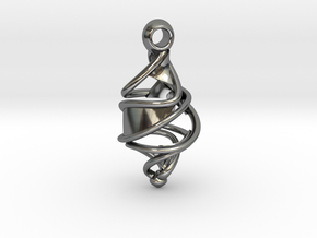 Entangled DNA Pendant in Premium Silver