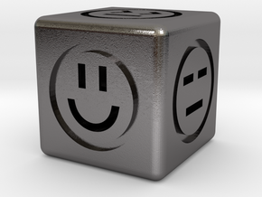Emotional Dice (6 Sides) in Polished Nickel Steel