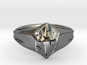 Mom Ring in Fine Detail Polished Silver