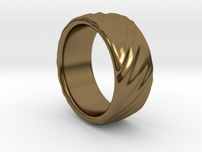 Canvas Ring - 20mm in Polished Bronze