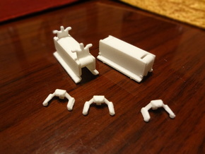 Sheds and buffers in White Natural Versatile Plastic