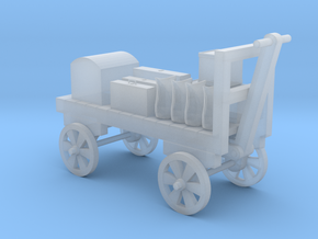 Baggage Cart Loaded - N 160:1 Scale in Smooth Fine Detail Plastic
