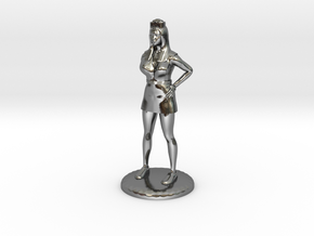 Nurse with Needle - 28 mm version in Fine Detail Polished Silver