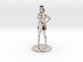 Nurse with Needle - 28 mm version in Rhodium Plated Brass