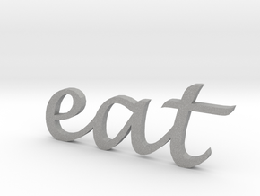 """eat"" Wall Art in Aluminum"