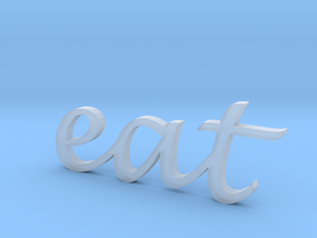 """""""eat"""" Wall Art in Smooth Fine Detail Plastic"""
