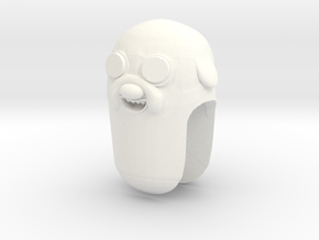 Custom Jake The Dog Inspired Lego in White Processed Versatile Plastic