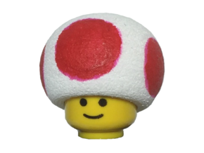 Custom Toad Inspired Lego in White Strong & Flexible Polished