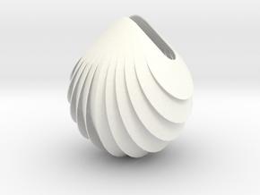 LightAuroraArmourDroplet in White Processed Versatile Plastic