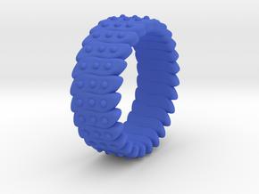 Ø0.646 Fractal Ring Model C Ø16.41 Mm in Blue Processed Versatile Plastic