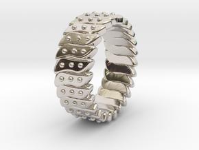 Ø0.646 Fractal Ring Model C Ø16.41 Mm in Rhodium Plated Brass