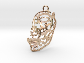 Nefertiti - face - pendant in 14k Rose Gold