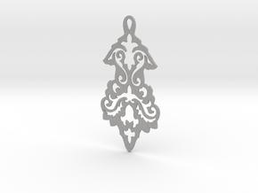 BlakOpal Victorian Flourish Earring in Aluminum