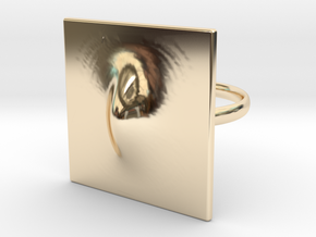 Squeeze Me Ring in 14k Gold Plated Brass