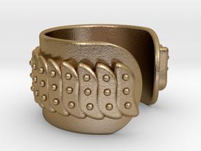 Fractal Bracelet Ø63 Mm/2.48 inch in Polished Gold Steel