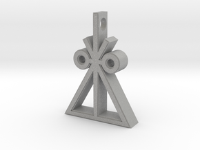 Trilateral Insignia Necklace in Aluminum