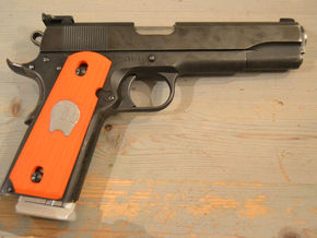 1911 Bushing Grip Right in Orange Processed Versatile Plastic