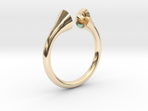 Gramaphonic Sharp Ring, US size 8, d=18 mm in 14K Yellow Gold: 8 / 56.75