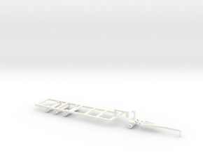Befort 1/64 scale double header frame in White Processed Versatile Plastic