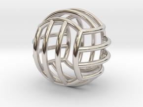 Key Holder Volley Ball in Platinum