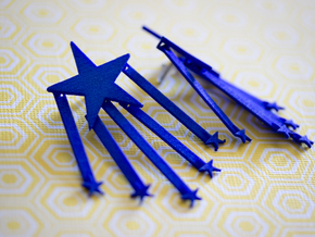 Stars And Stripes Earrings (for Studs) in Blue Processed Versatile Plastic