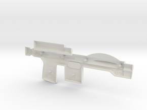 Trooper Blaster Full Size - (Left Half Only) in White Natural Versatile Plastic