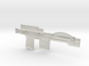 Trooper Blaster Full Size - (Left Half Only) in White Natural Versatile Plastic
