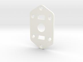 Jaguar Plate - 3-way Toggle, 2 sliders in White Processed Versatile Plastic