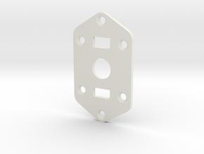 Jaguar Plate - 3-way Toggle, 2 sliders in White Natural Versatile Plastic