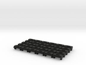 30pk DPDT switch mnt for N Scale Atlas C55 turnout in Black Natural Versatile Plastic