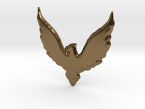 Hawk insignia keychain. in Polished Bronze