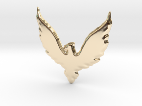 Hawk insignia keychain. in 14k Gold Plated Brass