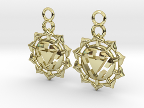 Chakra Manipura Earrings in 18k Gold Plated