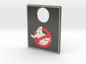 Pinball Plunger Plate - Spooky 1 in Glossy Full Color Sandstone