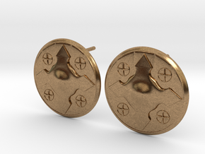 Wotan Cross Earring in Natural Brass