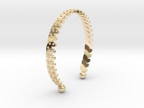 Ø2.874 inch /Ø73 mm Bracelet in 14k Gold Plated Brass