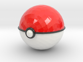 Pokeball (big) in Glossy Full Color Sandstone