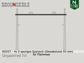 4x Querjoch (Oberleitung Epoche I - N 1:160) in Frosted Ultra Detail