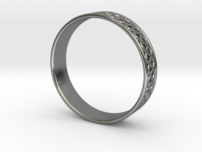 Ornamental Ring in Polished Silver